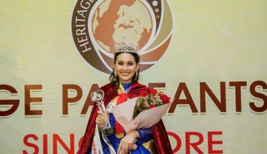 カザフスタンの17歳少女がミスヘリテージインターナショナル2019に